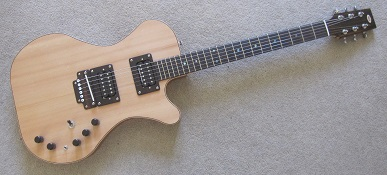 Spruce semi-acoustic electric guitar